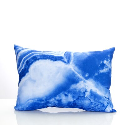 Quartz Outdoor�Lumbar Pillow Color: Blue
