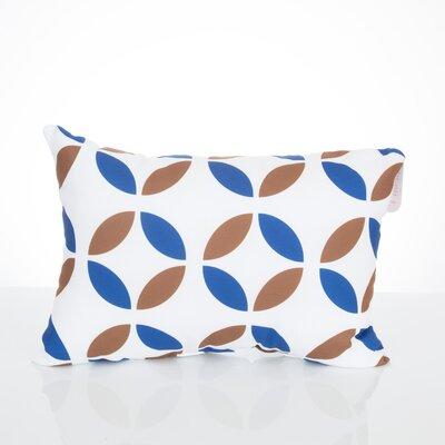 Mod Circles Outdoor Lumbar Pillow Color: Blue/Brown
