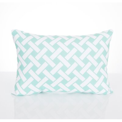 Lattice Outdoor Lumbar Pillow Color: Mint