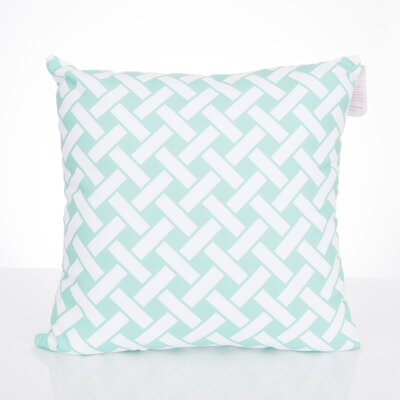 Lattice Outdoor Throw Pillow Size: 26 H x 26 W x 2 D, Color: Mint