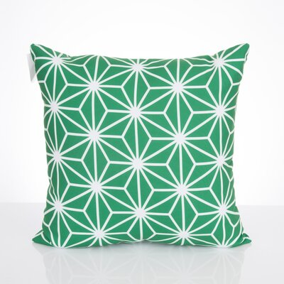 Twisted Kaleidoscope Outdoor Throw Pillow Size: 26 H x 26 W x 2 D, Color: Kelly Green