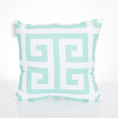 Greek Key Outdoor Throw Pillow Size: 20 H x 20 W x 2 D, Color: Mint