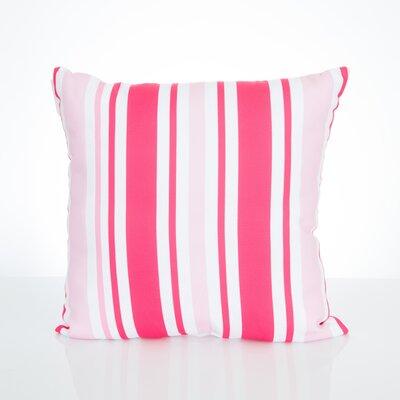 Vertical Stripe Outdoor Throw Pillow Size: 20 H x 20 W x 2 D, Color: Fuchsia