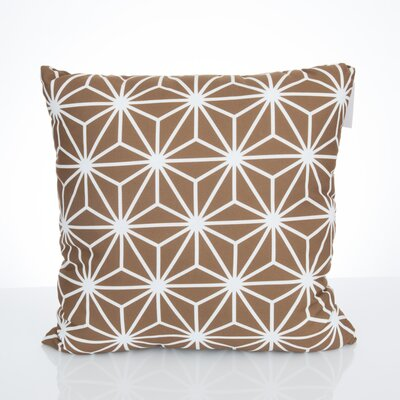 Twisted Kaleidoscope Outdoor Throw Pillow Size: 20 H x 20 W x 2 D, Color: Brown