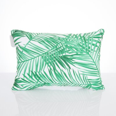 Palm Fronds Outdoor Lumbar Pillow Color: Kelly Green