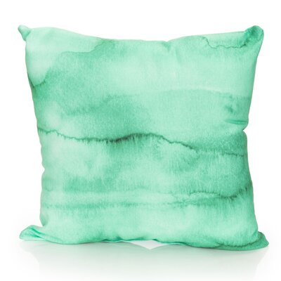 Watercolor Stripe Outdoor Throw Pillow Size: 26 H x 26 W x 2 D, Color: Kelly Green