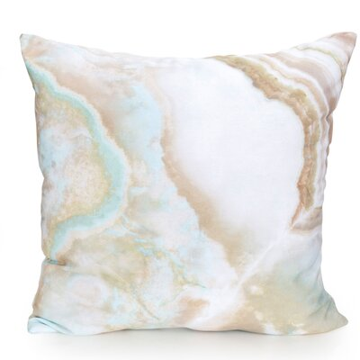 Quartz Outdoor Throw Pillow Size: 26 H x 26 W x 2 D, Color: Tan Blue Mix