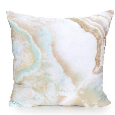 Quartz Outdoor Throw Pillow Size: 20 H x 20 W x 2 D, Color: Tan Blue Mix
