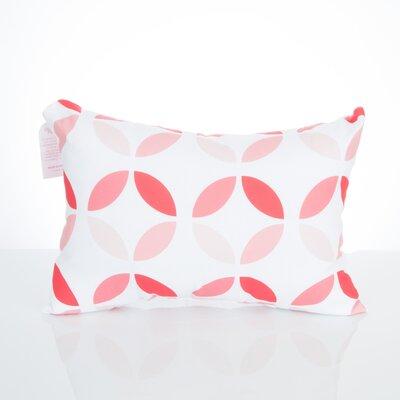 Mod Circles Outdoor Lumbar Pillow Color: Coral