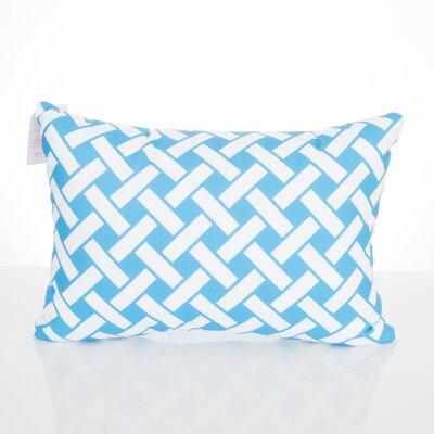 Lattice Outdoor Lumbar Pillow Color: Turquoise