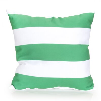 Cabana Stripe Outdoor Throw Pillow Size: 20 H x 20 W x 2 D, Color: Kelly Green