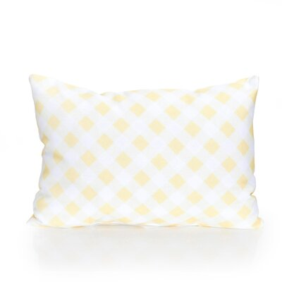 Check Plaid Outdoor Lumbar Pillow Color: Lemon