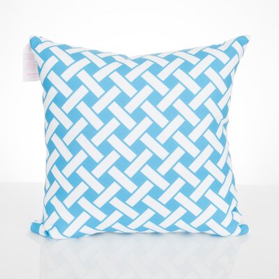 Lattice Outdoor Throw Pillow Size: 20 H x 20 W x 2 D, Color: Turquoise