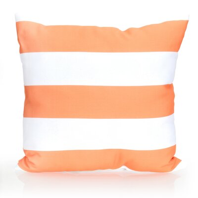 Cabana Stripe Outdoor Throw Pillow Size: 26 H x 26 W x 2 D, Color: Orange