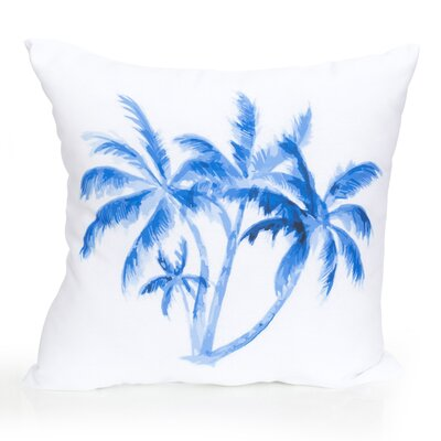 Palm Tree Outdoor Throw Pillow Size: 20 H x 20 W x 2 D, Color: Blue