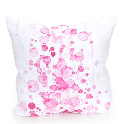 Watercolor Drop Outdoor Throw Pillow Size: 20 H x 20 W x 2 D, Color: Fuchsia