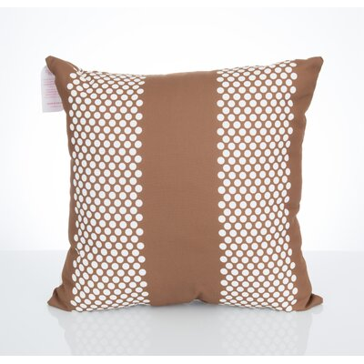 Bullseye Outdoor Throw Pillow Size: 26 H x 26 W x 2 D, Color: Brown