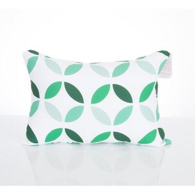 Mod Circles Outdoor Lumbar Pillow Color: Kelly Green