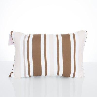 Vertical Stripe Outdoor Lumbar Pillow Color: Brown