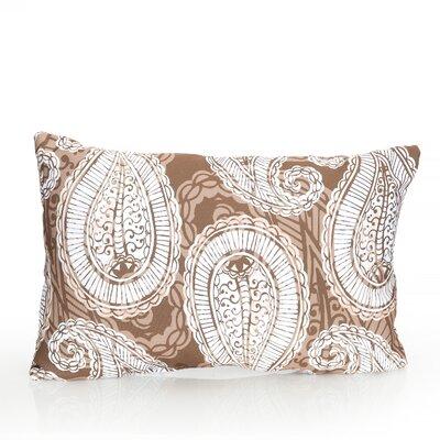 Paisley Outdoor Pillow Lumbar Pillow Color: Brown