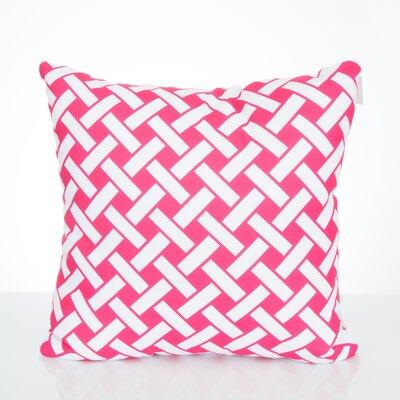 Lattice Outdoor Throw Pillow Size: 26 H x 26 W x 2 D, Color: Fuchsia