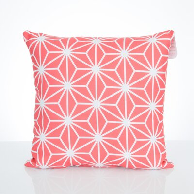 Twisted Kaleidoscope Outdoor Throw Pillow Size: 20 H x 20 W x 2 D, Color: Coral