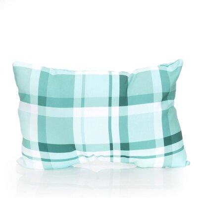 Plaid Outdoor Lumbar Pillow Color: Mint