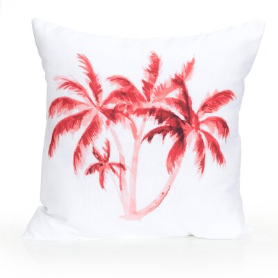 Palm Tree Outdoor Throw Pillow Size: 20 H x 20 W x 2 D, Color: Coral