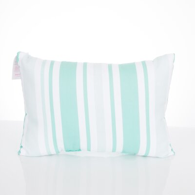 Vertical Stripe Outdoor Lumbar Pillow Color: Mint