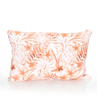 Tropical Pineapple Outdoor Lumbar Pillow Color: Orange