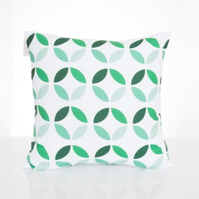Mod Circles Outdoor Throw Pillow Size: 20 H x 20 W x 2 D, Color: Kelly Green