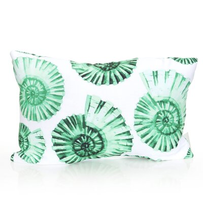 Nautilus Shell Outdoor Lumbar Pillow Color: Kelly Green