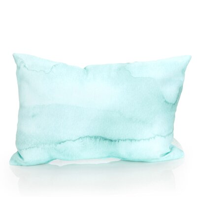 Watercolor Stripe Outdoor Lumbar Pillow Color: Mint