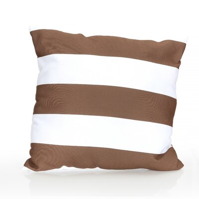 Cabana Stripe Outdoor Throw Pillow Size: 26 H x 26 W x 2 D, Color: Brown