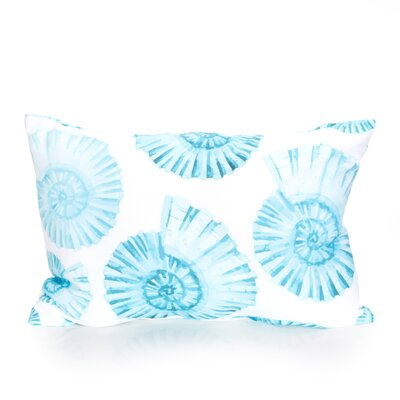 Nautilus Shell Outdoor Lumbar Pillow Color: Turquoise
