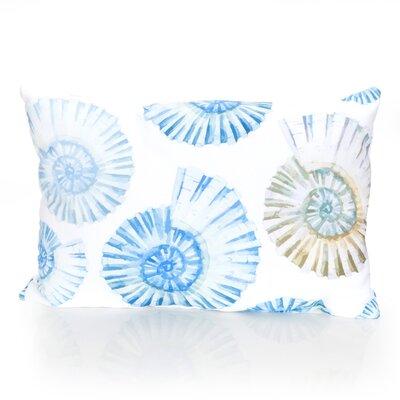 Nautilus Shell Outdoor Lumbar Pillow Color: Mustard