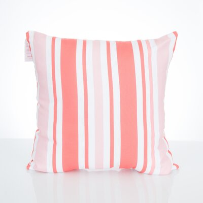 Vertical Stripe Outdoor Throw Pillow Size: 20 H x 20 W x 2 D, Color: Coral