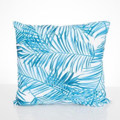 Palm Fronds Outdoor Throw Pillow Size: 20 H x 20 W x 2 D, Color: Turquoise