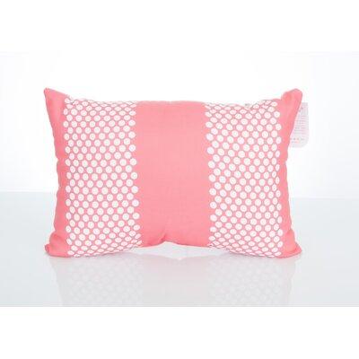 Bullseye Outdoor Lumbar Pillow Color: Coral
