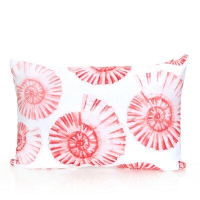 Nautilus Shell Outdoor Lumbar Pillow Color: Coral