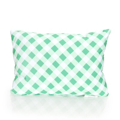 Check Plaid Outdoor Lumbar Pillow Color: Kelly Green
