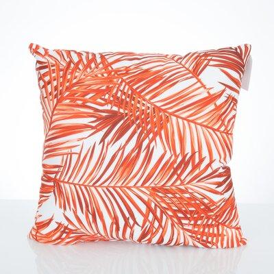 Palm Fronds Outdoor Throw Pillow Size: 20 H x 20 W x 2 D, Color: Orange