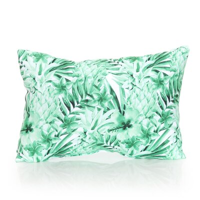 Tropical Pineapple Outdoor Lumbar Pillow Color: Kelly Green