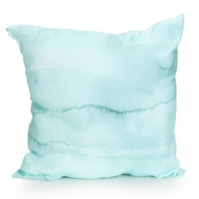 Watercolor Stripe Outdoor Throw Pillow Size: 26 H x 26 W x 2 D, Color: Mint