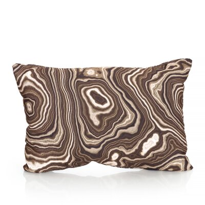 Malachite Outdoor�Lumbar Pillow Color: Brown