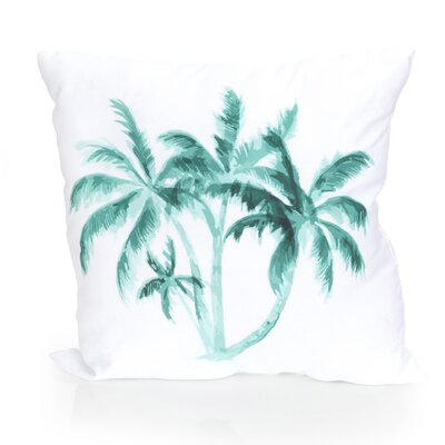 Palm Tree Outdoor Throw Pillow Size: 20 H x 20 W x 2 D, Color: Mint