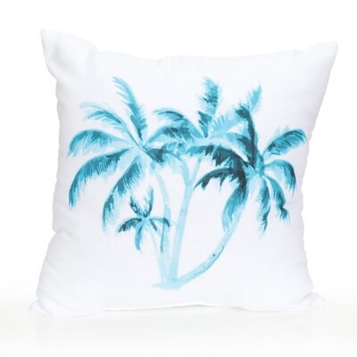 Palm Tree Outdoor Throw Pillow Size: 26 H x 26 W x 2 D, Color: Turquoise