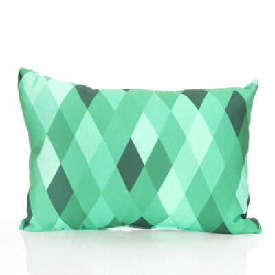Harlequin Outdoor�Lumbar Pillow Color: Kelly Green