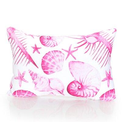 Sea Life Outdoor Lumbar Pillow Color: Fuchsia