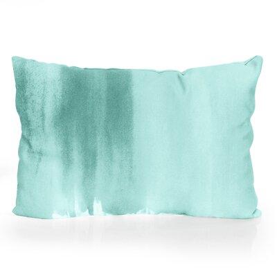 Ombre Watercolor Outdoor Lumbar Pillow Color: Mint